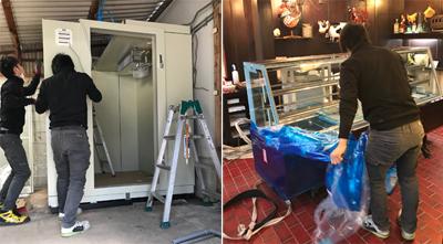 厨房用機器運搬